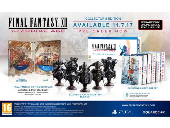 FINAL FANTASY® XII THE ZODIAC AGE Collector's Edition sweepstakes