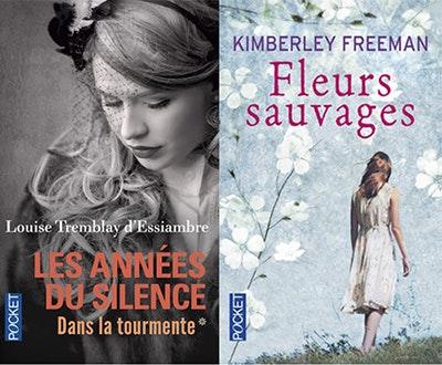 jeu concours 15 lots de 2 romans Pocket à gagner : Fleurs sauvages de KimberleyFreeman et Les années du silence de Louise Remblay d'Essiambre