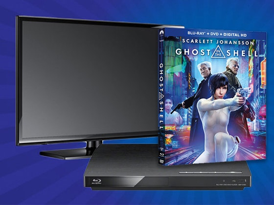 "Flatscreen TV, a Blu-ray Player, ""Ghost in the Shell"" on Blu-ray Combo Pack sweepstakes"