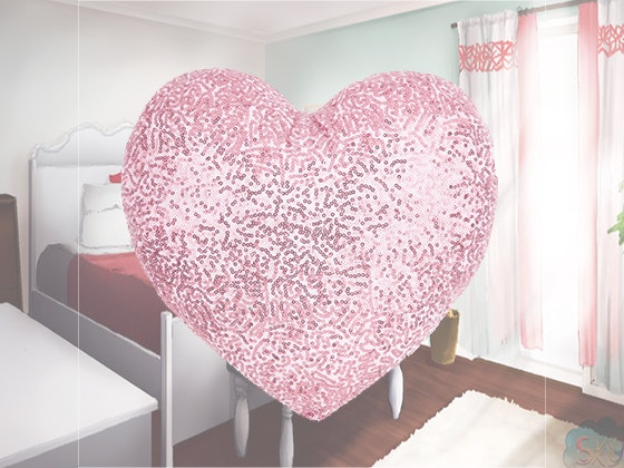 Laura Ashley Heart Shaped Sequin Pillow sweepstakes