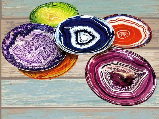 Crystal coasters giveaway