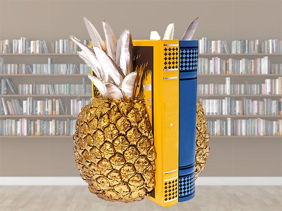 Pineapple bookends giveaway