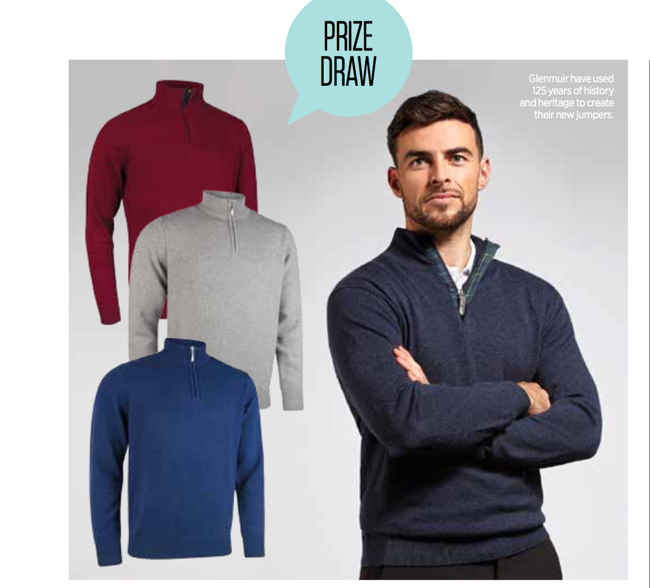 WIN A CASHMERE GLENMUIR JUMPER sweepstakes