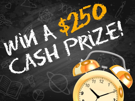 $250 Cash Prize August 2017 sweepstakes
