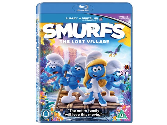 Smurfs: The Lost Village on along and SONY Blu-ray player sweepstakes