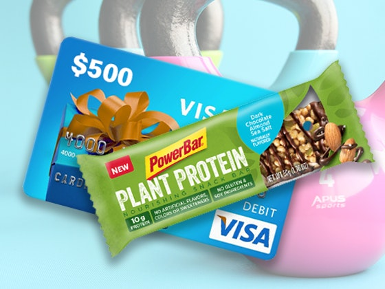 PowerBar Plant Protein Bars and a $500 Visa Gift Card sweepstakes