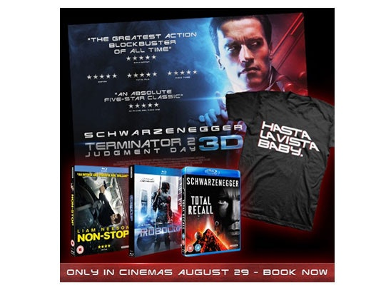 Terminator 2: Judgement Day sweepstakes