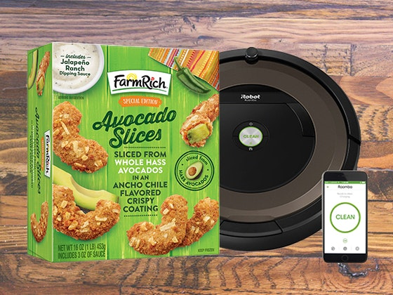 Roomba and Farm Rich Avocado Slices sweepstakes