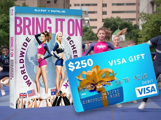 Bring It On: Worldwide Cheersmack and $250 Visa Gift Card sweepstakes
