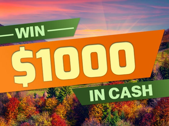 $1000 Cash September 2017 sweepstakes