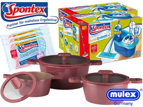 Spontex verlost Produktpaket + MULEX Topfset Gewinnspiel