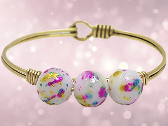 Splatter Bead Bangle sweepstakes
