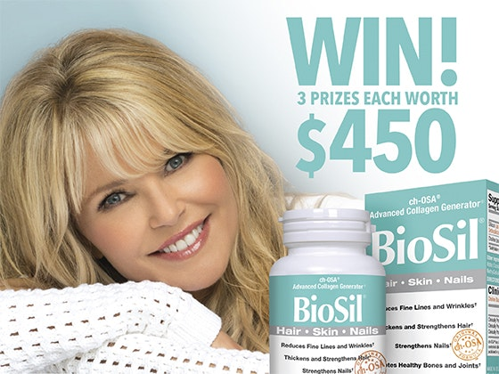 Biosil and Christie Brinkley book sweepstakes