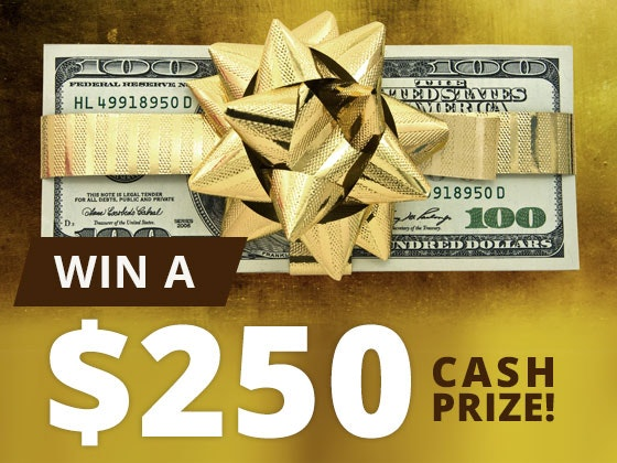 $250 Cash Prize September 2017 sweepstakes