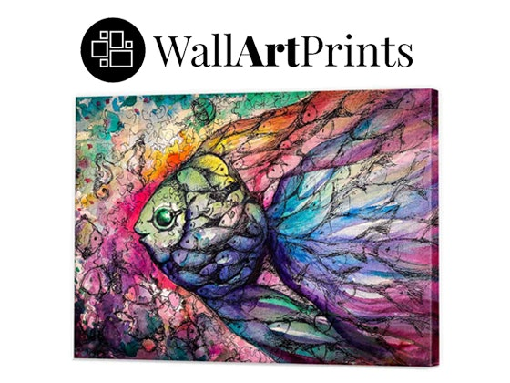 Wall art rainbow fishes sweepon