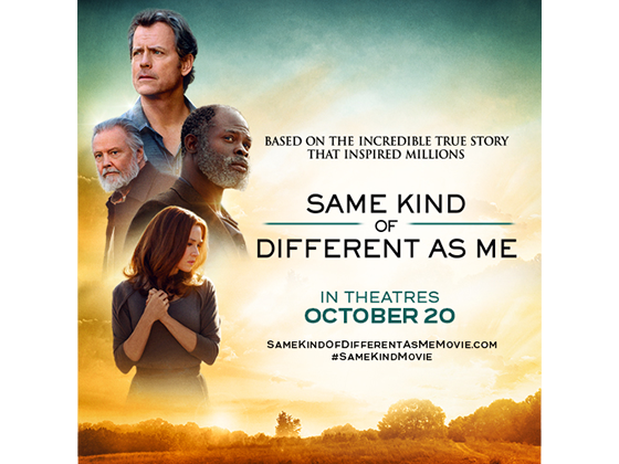 "Flatscreen TV + a $25 Fandango Gift Card to See ""SAME KIND OF DIFFERENT AS ME"" sweepstakes"