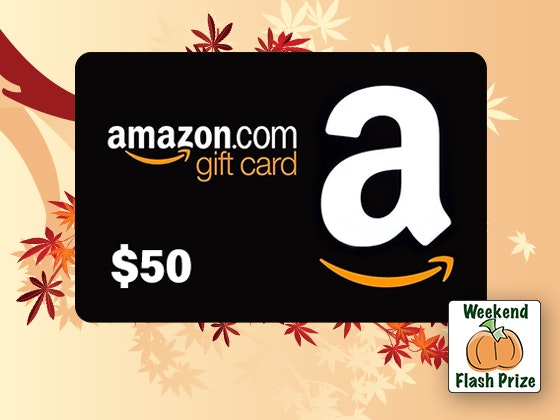 Amazon fall weekend flash giveaway