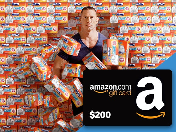 Hefty + $200 Amazon Gift Card sweepstakes