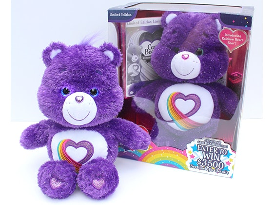Limited Edition Rainbow Heart Care Bear  sweepstakes