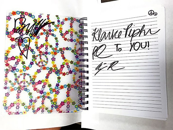 """""""Mr. Lemoncello"""" Cast's Signed Notebook sweepstakes"""