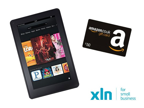 Kindle Fire and Amazon voucher sweepstakes
