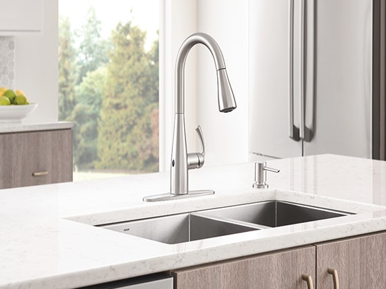 moen essie pulldown faucet with motionsense wave technology sweepstakes