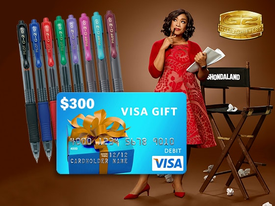 Pilot G2 Overachievers Prize Package + Visa Gift Card sweepstakes