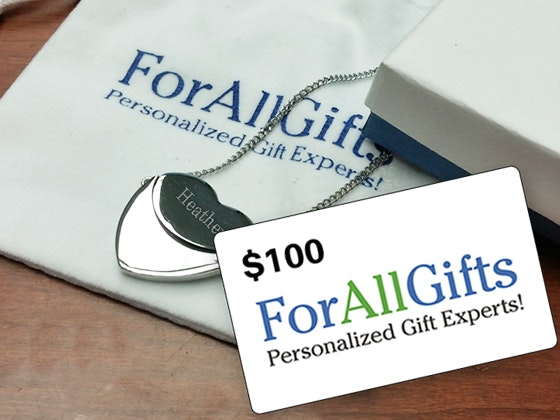 $100 Gift Card to ForAllGifts.com sweepstakes