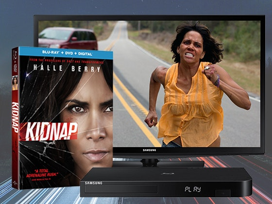 KIDNAP on Blu-ray Combo Pack + LED TV + Blu-ray Player sweepstakes