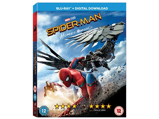 SPIDER-MAN HOMECOMING BLU-RAY sweepstakes