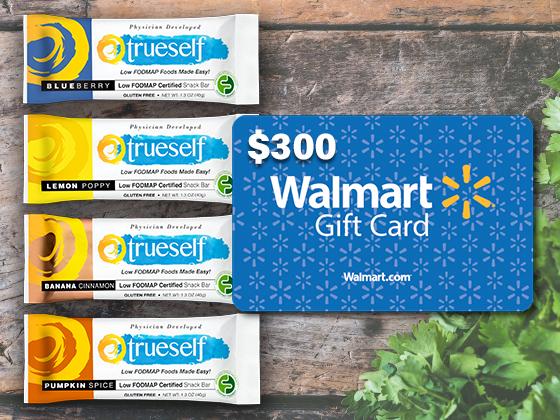 Win a $300 Walmart Gift Card & TrueSelf Foods Snack Bars ...