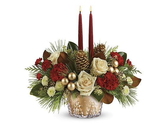 Teleflora winter centerpiece giveaway