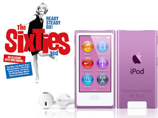 an iPod Nano & Ready Steady Go! The Sixties CD sweepstakes
