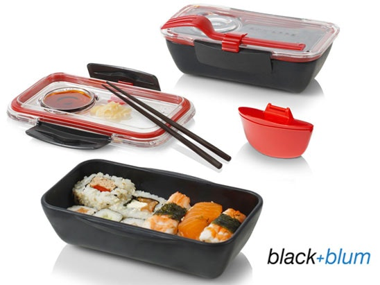 Black and blum bento boxes competition