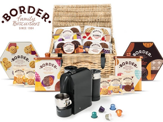 a Nespresso coffee machines & Border Biscuits hamper sweepstakes