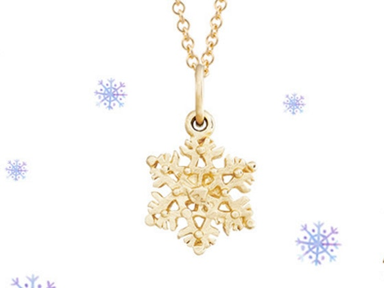 Helen Ficalora Gold Snowflake Necklace sweepstakes