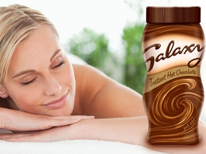 Spa vouchers galaxy hot chocolate charity hamper competition