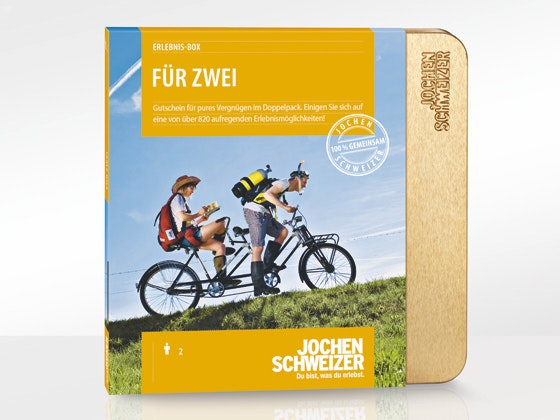 """Jochen Schweizer Erlebnis-Box """"Für Zwei"""" Gewinnspiel"""