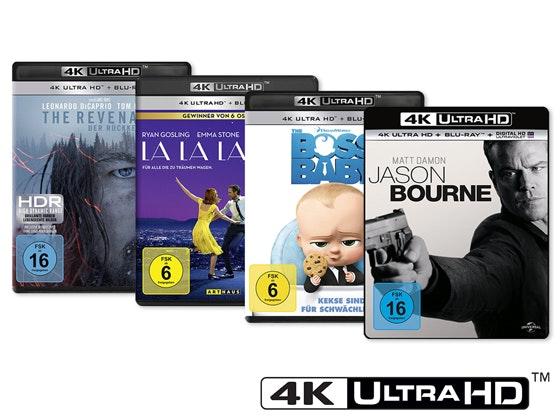 Gewinnt vier 4K UHD Blu-rays Gewinnspiel