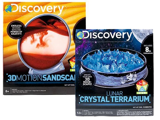 Discovery's Lunar Crystal Terrarium and 3D Motion Sandscape Kits sweepstakes