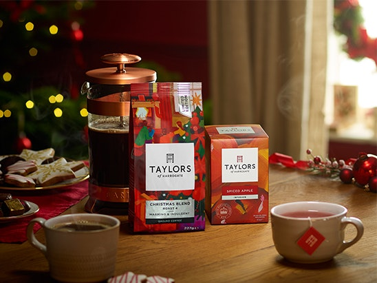 Taylors tea & coffee hamper and a woodland retreat worth £400 sweepstakes