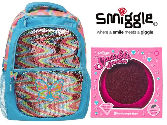 Smiggle sparkle speaker sparkle backpack sparkle sand balet light competition