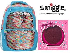 Smiggle sparkle speaker sparkle backpack sparkle sand balet light competition