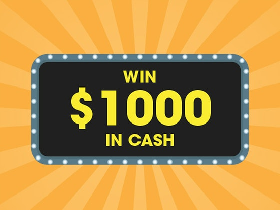 $1000 Cash December 2017 sweepstakes