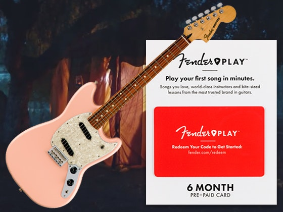 Mustang Fender Offset Guitar + Subscription to Fender Play sweepstakes