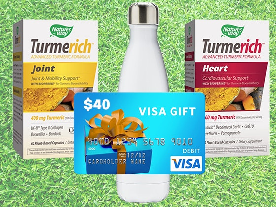 Nature's Way Healthy Lifestyle Package + Visa Gift Card sweepstakes