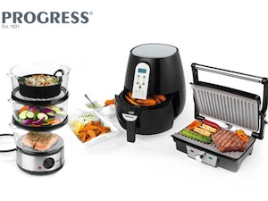 Progress kitchen gadgets hot air fryer steamer grill and panini maker competition