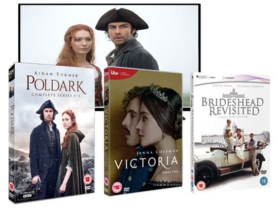 Tv poldark victoria brideshead revisited dvd itv drama competition