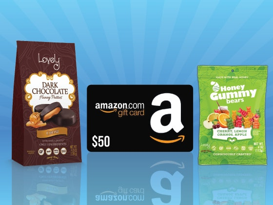 Lovely Candy Company Candies + a $50 Amazon Gift Card sweepstakes