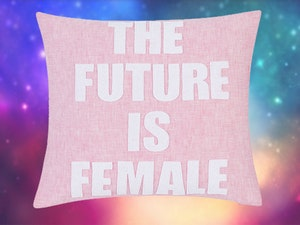 Tb future is female pillow giveaway